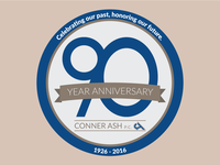 Conner Ash 90 Year Anniversary Logo