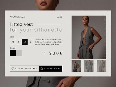 Online fashion shop Namelazz - redesign concept minimal online shop clothing fashion design webdesign radesign branding