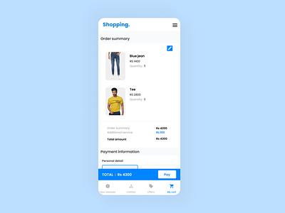 Checkout page UI (Mobile) design mobile ui interaction checkout ui ui