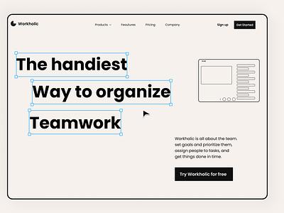 Landing page product design product saas branding ui