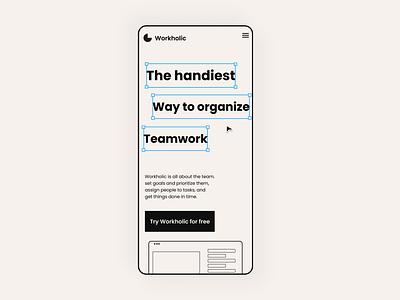 Landing page (mobile) saas mobile product design ui