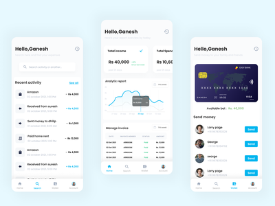 Banking App (Mobile) payment banking saas product design ui