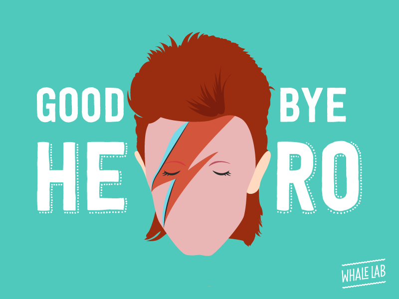 Goodbye, David! flat graphic design seventies heroes sad goodbye history music bowie david davidbowie