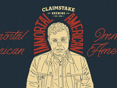 Claimstake Brewing - Immortal American Illustration
