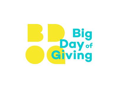 Big Day Of Giving Logo nonprofit bdog big day of giving logotype logo