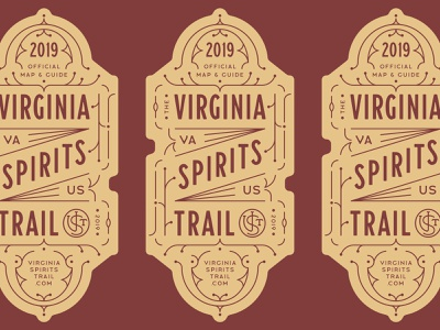 VST Graveyard 06 prohibition badge logo vst spirits vintage lines strokes linework