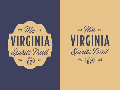 VST Final Logo Lockups trail vst vintage typography typebadge type spirits script prohibition logo lockup branding badge