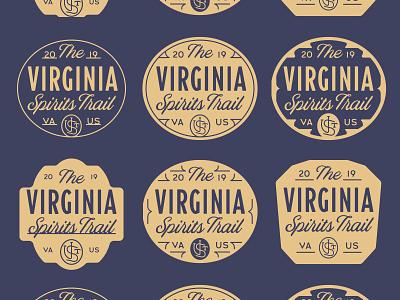 VST Graveyard 07 vst typography type trail spirits prohibition oval logo gravyard concepts badge