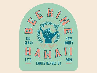 Bee Kine Final Badge visual craftsman agfr grits logo design hawaii branding label bees bee honey badge