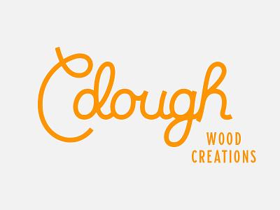 Cdough Wood Creations Graveyard 01 handlettering cursive type logo lettering