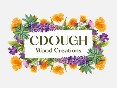 CDough Wood Creations wood modern botanical flowers