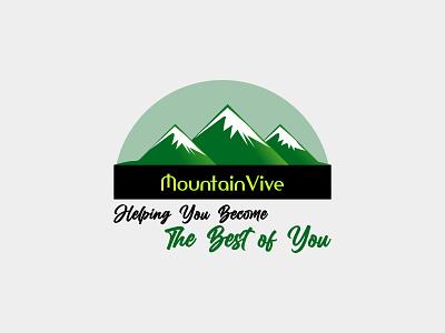 mounta vive logo modern business luxury logo icon typogaphy logo design minimal flat branding hill logo nature logo mountain logo