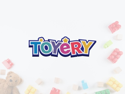 Kids Toy Shop Logo graphic design rainbow logo colorful logo logo typogaphy logo design minimal flat branding happy logo fun logo children logo kids logo toy shop logo toy logo