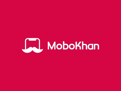 MoboKhan Logo shop onlineshop phone accessories app icon typography vector illustration design branding logo graphic design ui