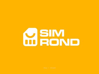 Sim Rond Logo design design logotype visual branddesign logodesign onlineshop store shop yellow vector illustration graphic design branding logo simcard