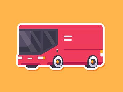 Car Sticker - Delivery Van illustration madeinaffinity affinitydesigner affinity simple flat van delivery sticker car