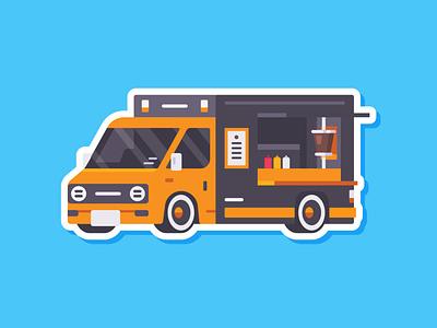 Car Sticker - Food Truck food truck truck food sticker simple madeinaffinity illustration flat car affinitydesigner affinity