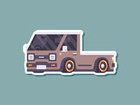 Car Sticker - Pick Up truck low pick up sticker simple madeinaffinity illustration flat car affinitydesigner affinity