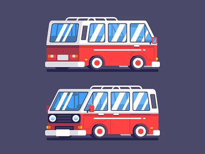 Volkswagen Kombi 3rd Generation car kombi volkswagen design illustration vector flat simple