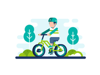 Bike Theme Illustration