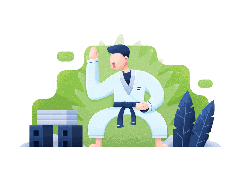 Karate grain karate affinity designer affinity illustration vector flat simple