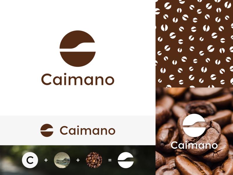 Caimano Coffee design affinity coffee vector logo simple branding