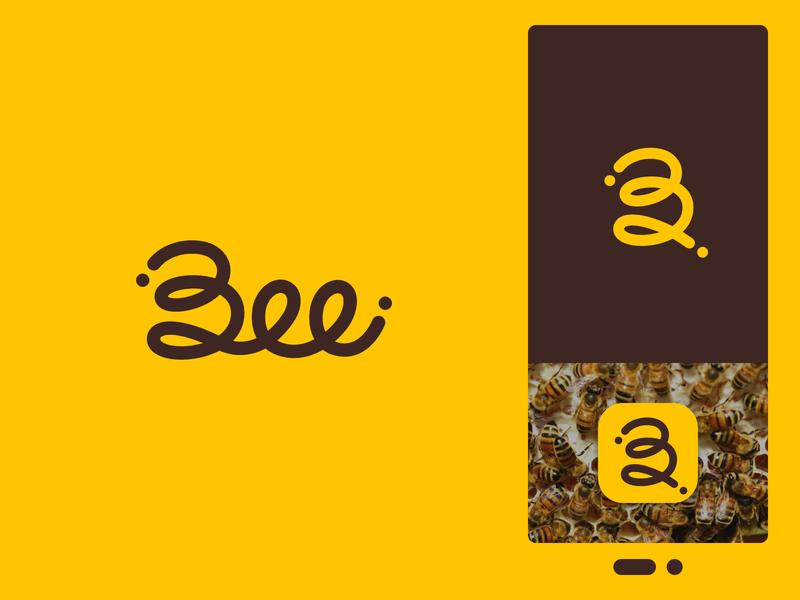 Bee Logo bee logo bee yellow logo affinity design app icon vector flat simple