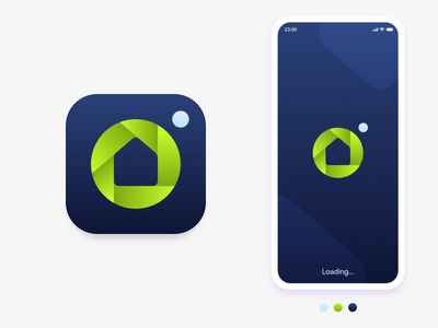 Camera House house flat android ios affinity design app icon icon vector simple