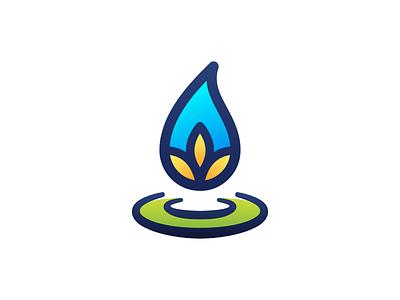 AreaCrop Logo moisture soil fertilizer crop area branding logo affinity design icon vector flat simple