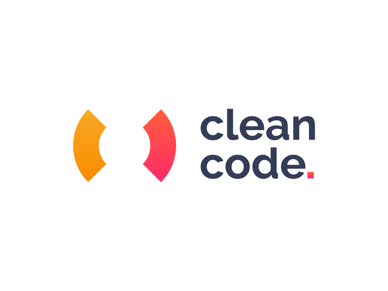 Clean Code Logo coding code clean branding logo affinity design icon vector flat simple