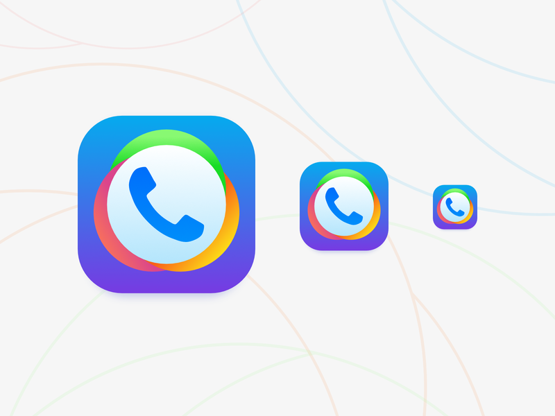 Phone Call App Icon call phone android ios affinity app icon design icon vector flat