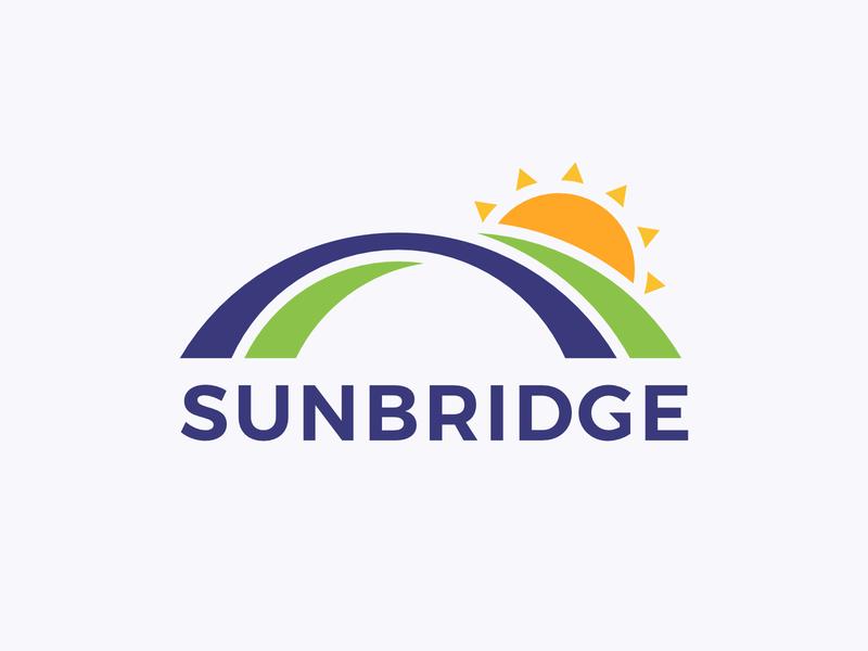 Sunbridge Logo bridge sun branding logo affinity design icon vector flat simple
