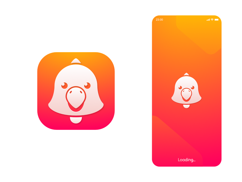 Squawk App Icon parrot bird icon reminder android ios affinity app icon design icon vector flat simple