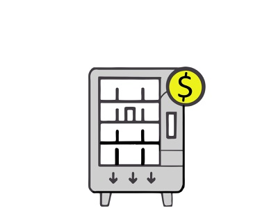 machine for commerce epidemic pandemic card logo icon commerce machine illustration