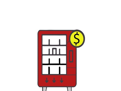 machine for commerce card epidemic pandemic shop e-comerce automat commerce machine logo icon illustration
