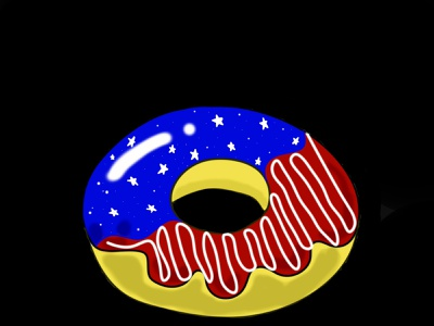 very sweets donuts food cake on black background background black delivery food independence independence day american flag american card logo icon donut day donut illustration