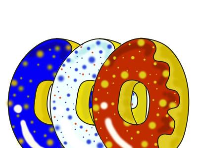 donut france flag france delivery food card logo icon donuts design illustration