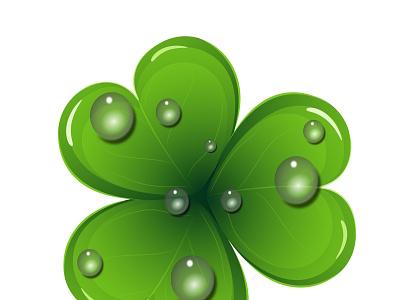 st patrick shamrock symbol irish spring green day patrick 3d shamrock logo icon card illustration