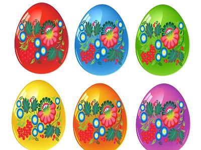 easter eggs set religion ornament folk set eggs easter easter eggs vector design happy icon logo card illustration