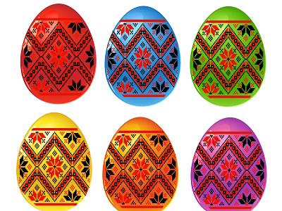 easter eggs set jpeg jpg vector ukrainian national park ornament folk set eggs easter design happy icon logo card illustration