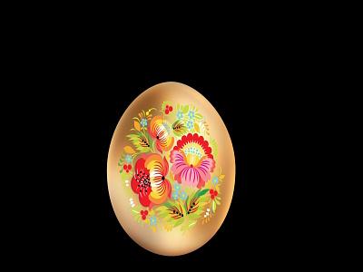 easter egg black jpg png vector happy icon logo card ornament design folk gold egg easter illustration