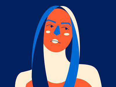 Ehhh woman illustration woman minimal portrait illustration flat design character design