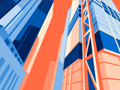 41 Church Street, NYC geometrical geometic vector perspective abstract new york nyc architecture illustration flat design