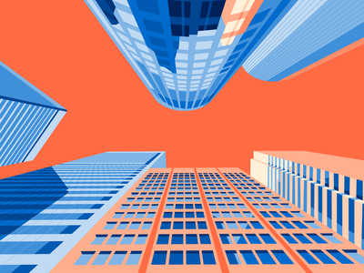 50 Front Street, San Francisco CA sky perspective skyscraper san francisco abstract geometric geometry abstraction architecture illustration flat design