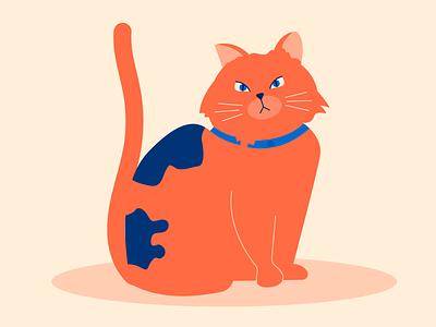 Kitty abstract flat vector cats kitty cat character design illustration flat design