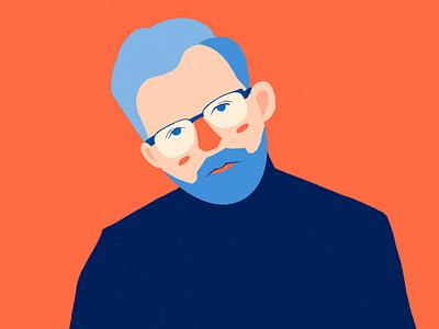 Portrait portrait character design illustration flat design