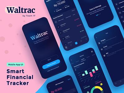 Waltrac App mobile app ui design ui  ux tracker mobile ui wallet app wallet