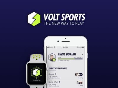 Volt Sports - A Social Sports App Concept game adidas nike matches tournament athletic concept app social sports