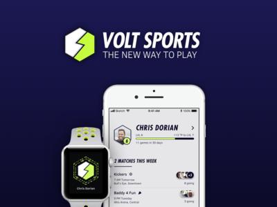 Volt Sports - A Social Sports App Concept