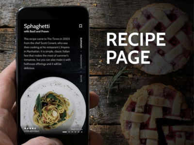 Recipe Page; Daily UI #40 redesign recipe daily ui concept